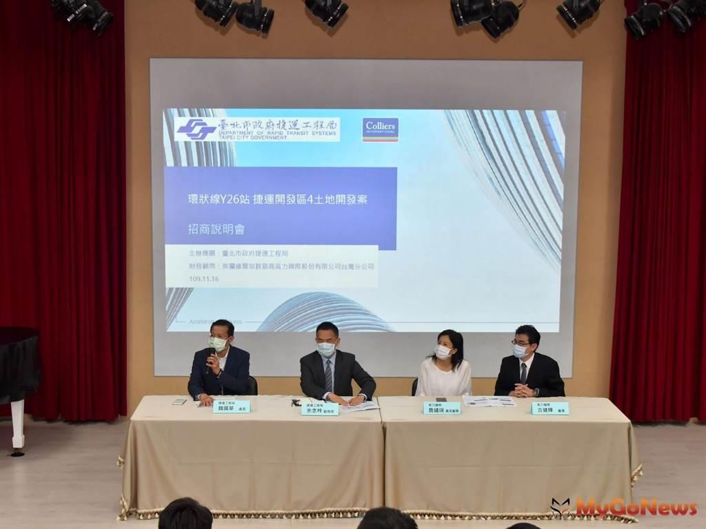 捷運環狀線Y26站土地開發案招商正式啟動(圖/台北市政府)