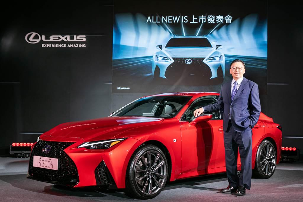 Lexus IS300h改款上市,正式售價189萬元起。(圖為和泰汽車總經理蘇純興。)