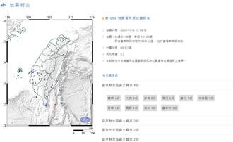 地牛翻身!台東外海規模5.2地震 台東震度4級