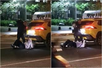 街頭踹毆小黃司機 惡煞騎士現身稱:行車糾紛