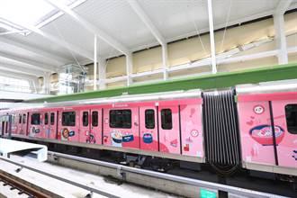 台中捷運試營運 首發企業聯名彩繪列車超吸睛