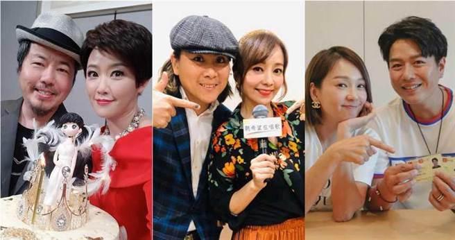 (左)黃國倫&寇乃馨、(中)王仁甫&季芹、(右)李易&六月