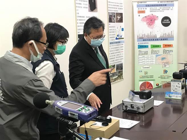 桃園市環境汙染監控派遣AI化處理效率提升。(呂筱蟬攝)