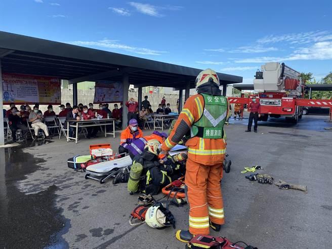 桃園市消防局創全亞洲之先,引進災害現場事故安全官制度。(蔡依珍攝)