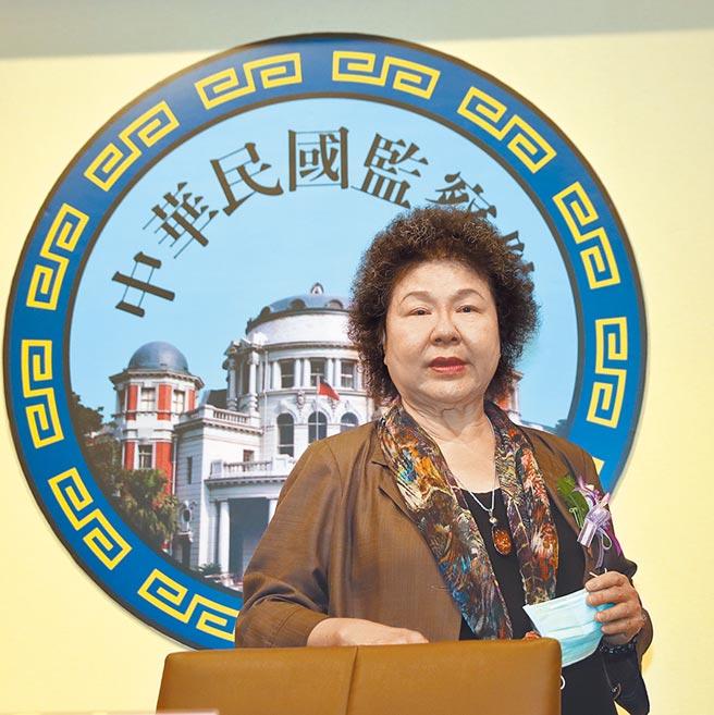 陳菊以依據憲政慣例為由,拒絕列席人權委員會草案審查。(本報資料照片)
