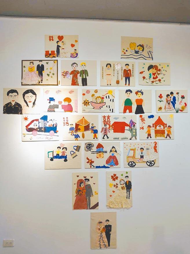 集結花東縱谷間社區高齡長者創作,透過拼布重現生命回憶作品的「三媽拼布展」。(花蓮縣府客家事務處提供/羅亦晽花蓮傳真)