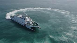 直擊/海巡雙船體巡防艦海上試測   漢光演習將試射雄三飛彈