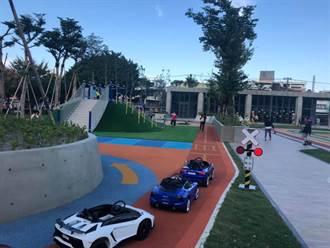 桃園首座兒童駕訓公園啟用 停車場免費停到年底