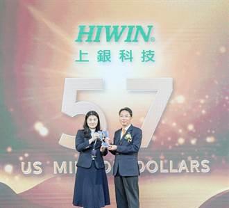 上銀科技17日獲頒台灣國際品牌第24名