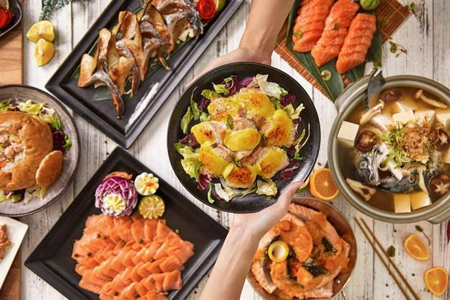 台北國泰萬怡酒店推出多種餐飲促銷活動,平日午餐雙人成行只要1,296元就可以「mj魚百匯」吃到飽。圖/台北國泰萬怡酒店提供