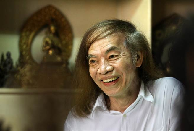 72歲漫畫大師蔡志忠少林寺出家 落髮成沙彌 法名釋延一(本報資料照/王錦河攝)