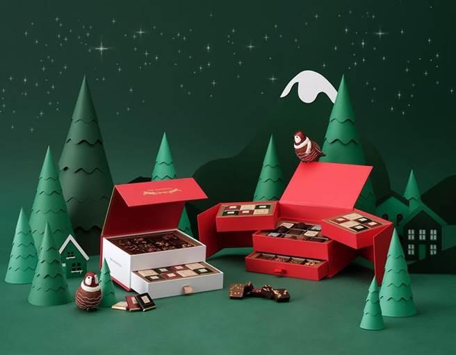 半島精品的「賞心巧克力禮盒」一次囊括多款半島經典巧克力,品項豐富令人目不暇給。圖/半島精品