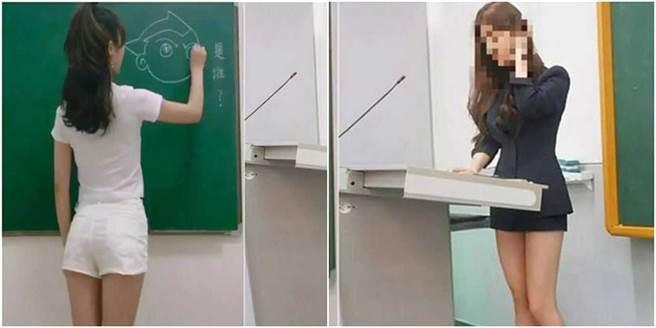 一名老師穿著火辣,引發家長反彈聲浪,最後還得請出校方出面調解。(圖/翻攝自微博)