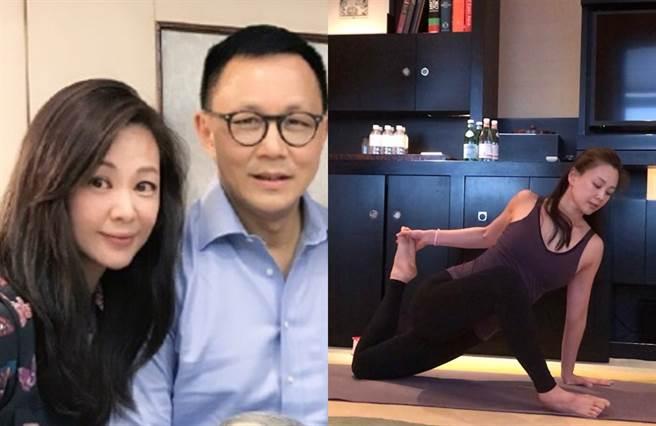 王馨平嫁給老公後,當起瑜伽老師。(圖/微博@王馨平)