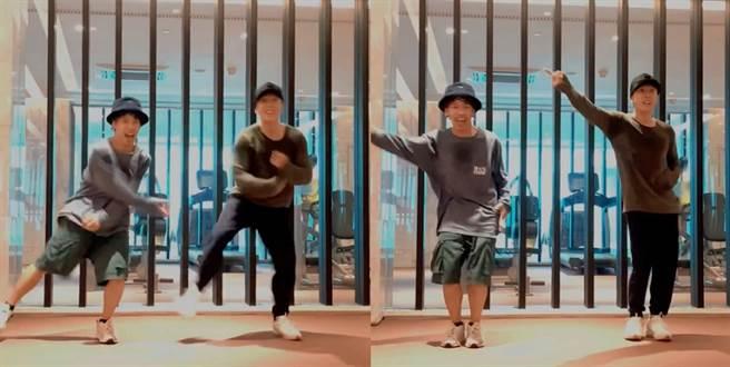 最近甄子丹不習武改練舞,和《這!就是街舞》第二季總冠軍重現當年《情逢敵手》的精彩舞蹈。(圖/ 摘自甄子丹微博)