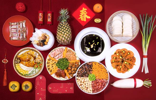 預訂凱達「牛轉乾坤年菜套餐」享早鳥8折優惠。(凱達大飯店提供)
