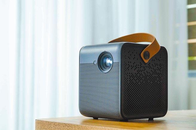 峰米Dice真無線智慧投影機,讓娛樂爽度大大提升。圖/米客邦提供