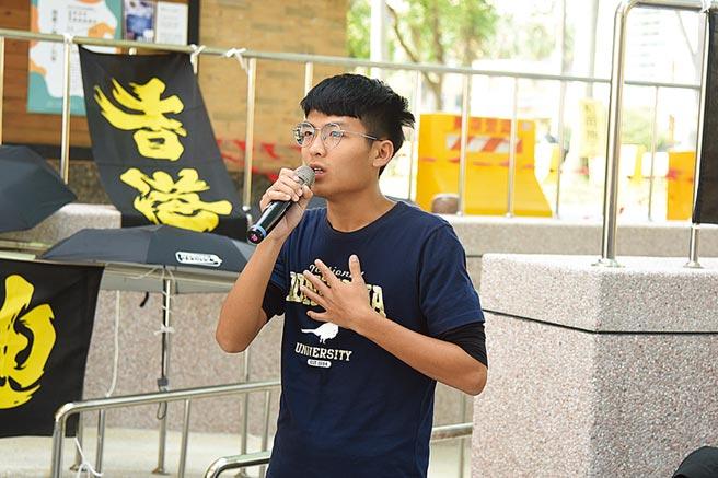 前東華大學學生會長許冠澤。(本報資料照片)