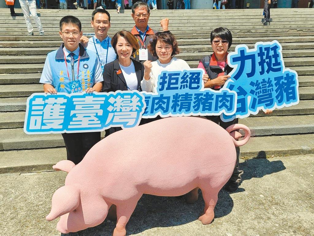 嘉義市議會藍營議員17日再針對萊豬爭議質詢,會中市長黃敏惠重申會嚴格把關立場。(鄭光宏提供/呂妍庭嘉義傳真)