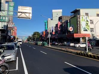 龍潭中興路「回春」 電纜下地工程部分完工 地方重見平整道路