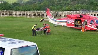 攀登台灣四大障礙奇萊東稜摔傷骨折 黑鷹直升機吊掛送醫