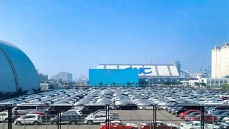21 年式新版到港!数不清的 Model 3 排队整装,台湾下周准时启动第四季交车