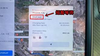 特斯拉車載地圖加入了「超充排隊時間」預估功能,讓你知道客滿的超充要等多久