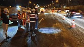 汐止國道工程造成紫爆 預計晚間11時恢復全線通車