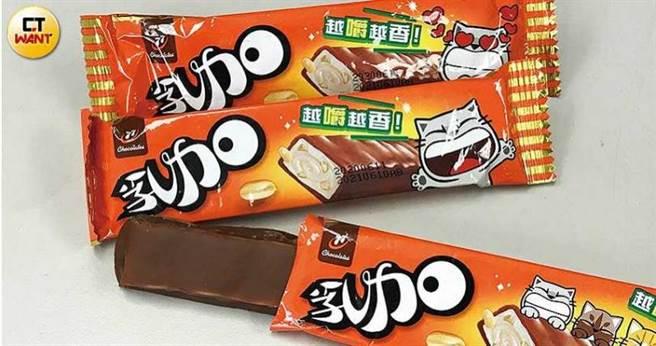 張添以象徵幸運的數字7命名的77乳加巧克力,是宏亞的長銷熱賣品。(圖/李宗明攝)