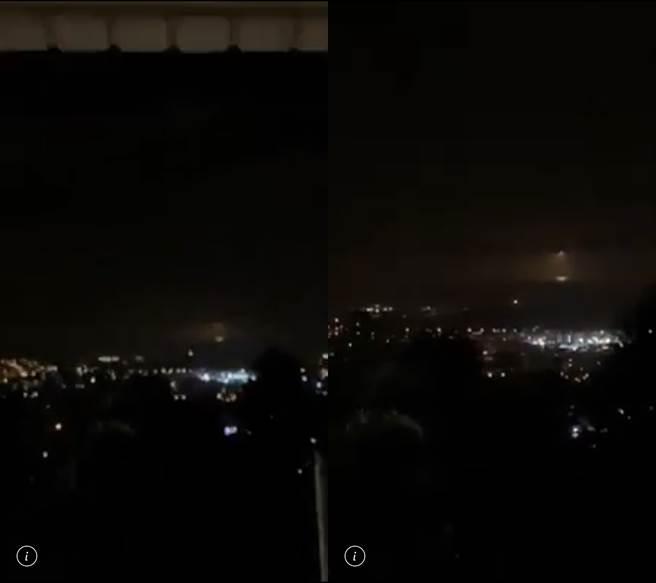 民眾直擊在太平洋上方有火光直落海面,經了解才發現搜救團隊為夜搜而投放照明彈。(臉書社團《花蓮爆料王》/蘇育宣翻攝)
