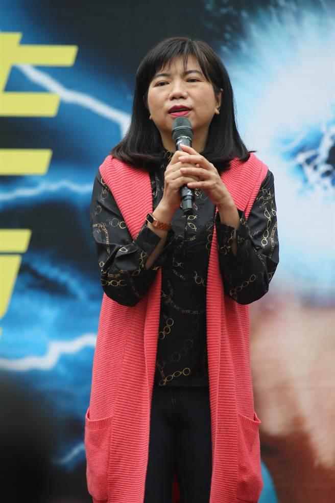 新黨發言人陳麗玲也宣布將響應本次秋鬥,一起上街抗議。(資料照,杜宜諳攝)