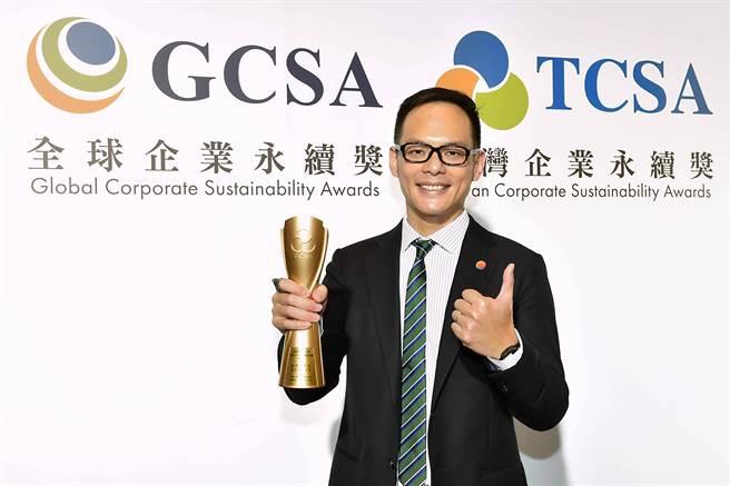 台灣大哥大林之晨總經理,上任後提出超5G策略,當中Green所代表的即是「愛台灣、愛人類、愛地球」。(圖/台灣大哥大提供)