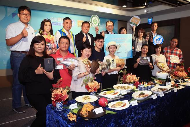 屏東縣政府與台北六福萬怡酒店攜手合作,18日中午舉辦「FUN饗漁悅」屏東優質水產品發表餐會。(陳麒全攝)