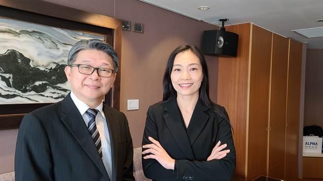 明泰董事長黃文芳(圖右)、總經理林裕欽(圖左)。(圖/王逸芯攝)