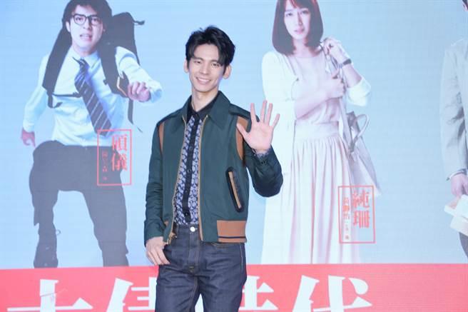 《大債時代》演員林柏宏出席台北電視節。(羅永銘攝)