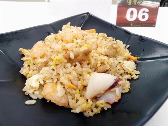 吳家餐館的XO醬海鮮總匯炒飯入圍第2屆「台灣炒飯王」。(農糧署南區分署提供/李宜杰台南傳真)