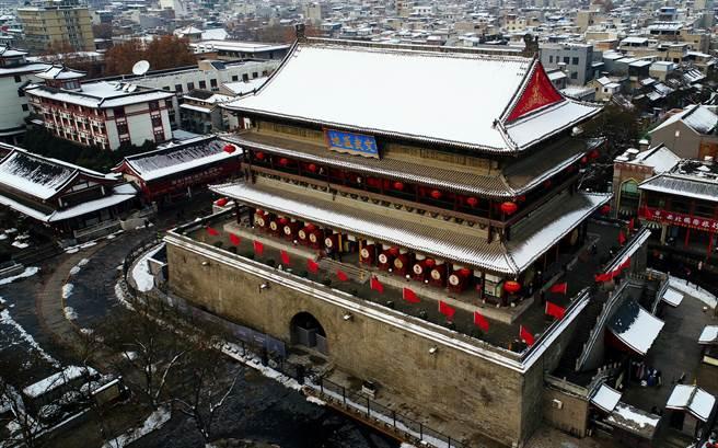 古城西安雪後初霽。(新華社資料照片)