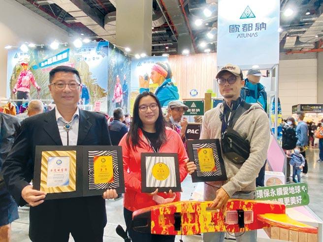 歐都納多項產品榮獲台灣戶外聯盟TOG AWARD獎項殊榮。圖/歐都納提供