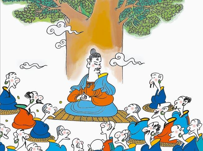 蔡志忠曾以「小小蒲公英種子」自詡,鼓勵年輕人不要急著與人比較,要自在當「自己」。(皇冠出版提供)