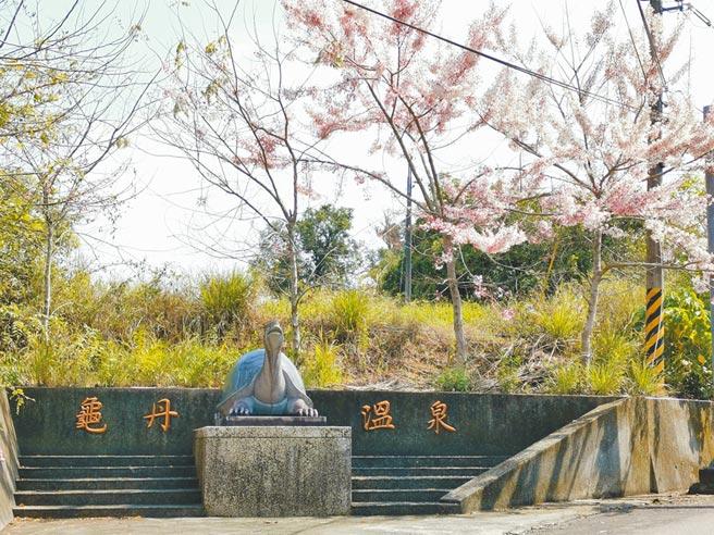 台南市楠西區龜丹溫泉號稱美人湯,目前有3家業者及市府委外經營的示範區。(劉秀芬攝)