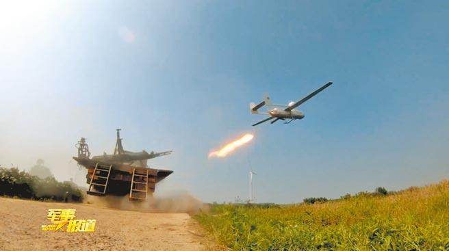 大陸解放軍第71集團軍某旅發射無人機。(影片截圖自微博@軍事報導MilitaryReports)