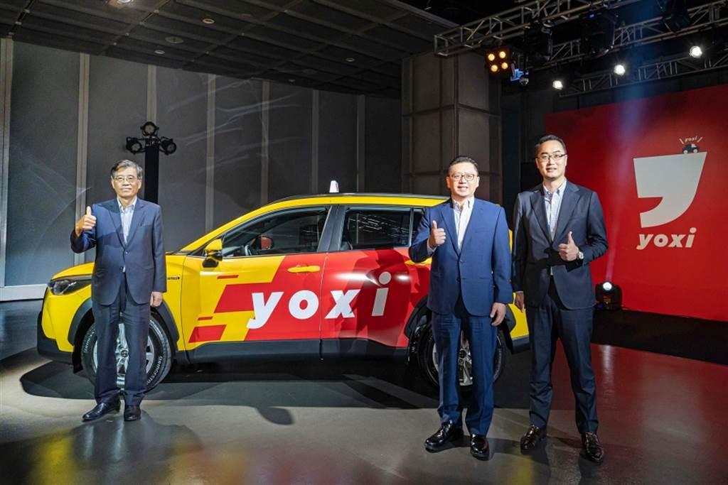 和泰汽車於11月19日舉辦yoxi發表會。(左起和泰汽車董事長黃南光、總經理蘇純興及MaaS先進策略本部本部長吳品璁)