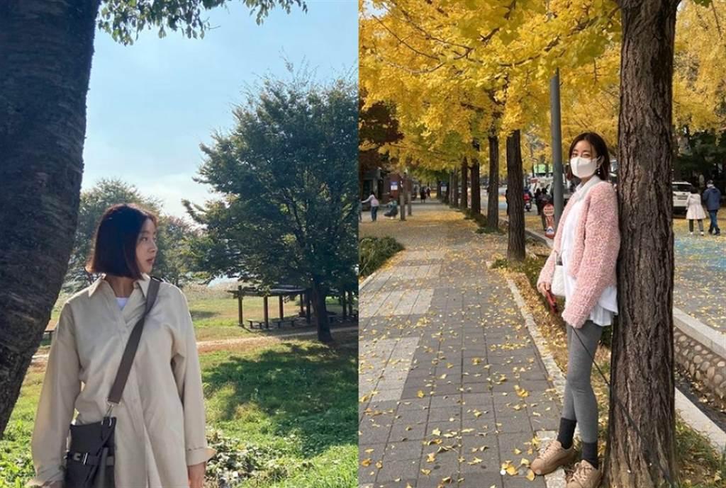 其實姜素拉婚後在Instagram分享的生活照,能發現她都穿著較寬鬆的衣服,有別於婚前愛穿合身款式的風格。(圖/ 摘自姜素拉IG)