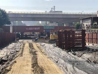 用路人注意了 中市五權路地下道填平施工23日起封路