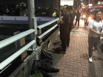 台北橋民眾落水  意識清楚送醫救治