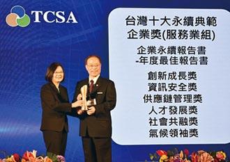 台灣企業永續獎-中華電獲十大永續典範企業