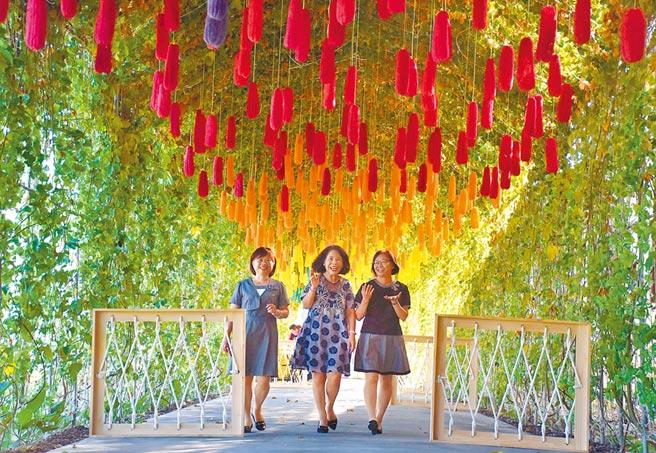 「高山茶都.嘉義」2020博茶會21日將在嘉義縣中埔鄉農會金蘭分部登場,中埔農會員工打造的「絲絲廊道」是一大亮點。(呂妍庭攝)