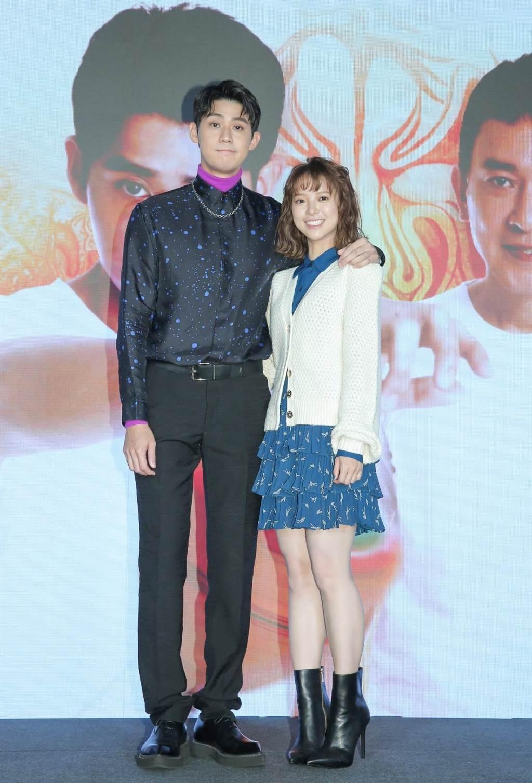 《神之乡》20日举行戏剧发布会,男女主角李玉玺、项婕如出席。(卢祎祺摄)