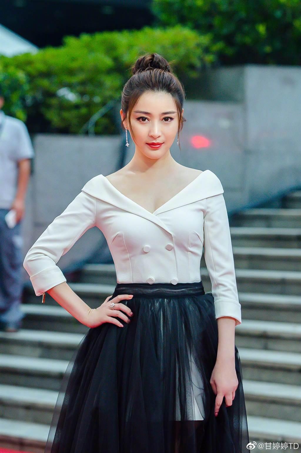 甘婷婷演过不少次女主角,但不到大红程度。(图/翻摄自微博)