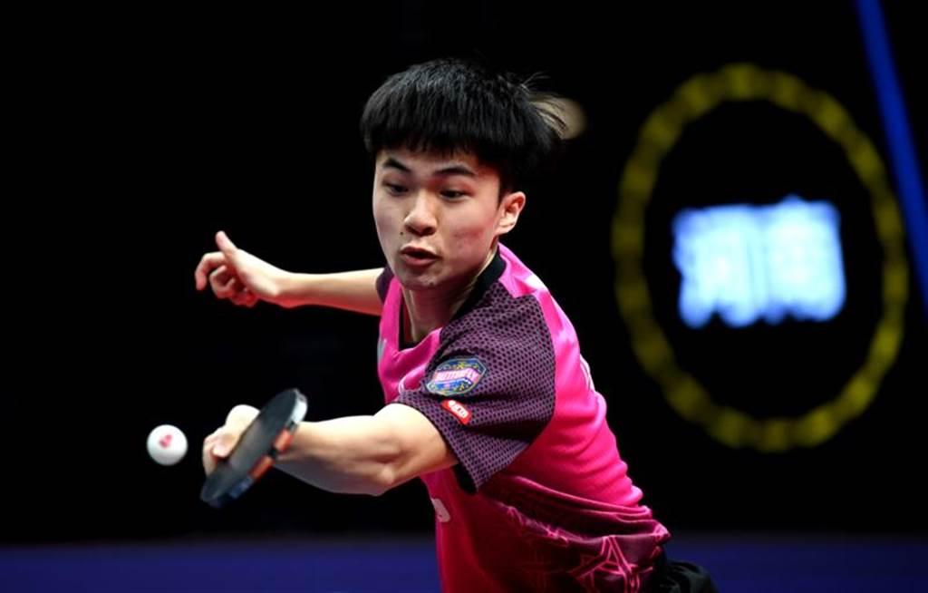 台灣男桌一哥林昀儒在WTT澳門公開賽不敵大陸老將方博,無緣晉級前八強。(新華社資料照)